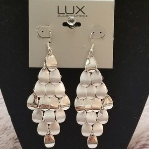Lux chandelier earrings.